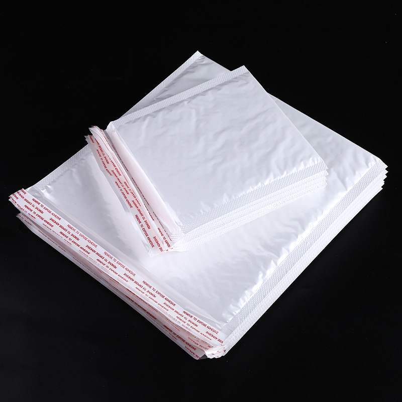 Pearlescent film bubble bag ultra light white pearlescent film envelope bag can be customized