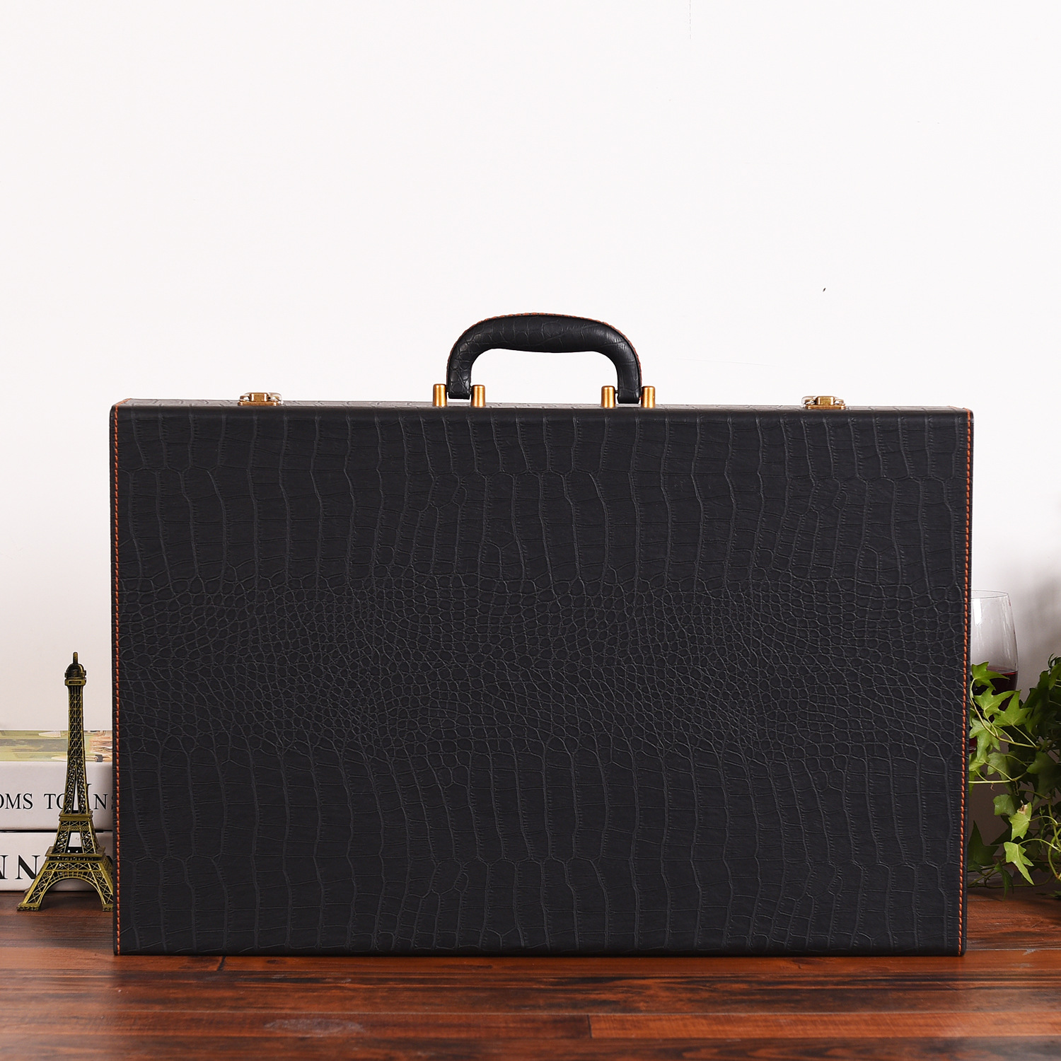 Haoyuan new six-pack wine leather box, high-end wine packaging gift box