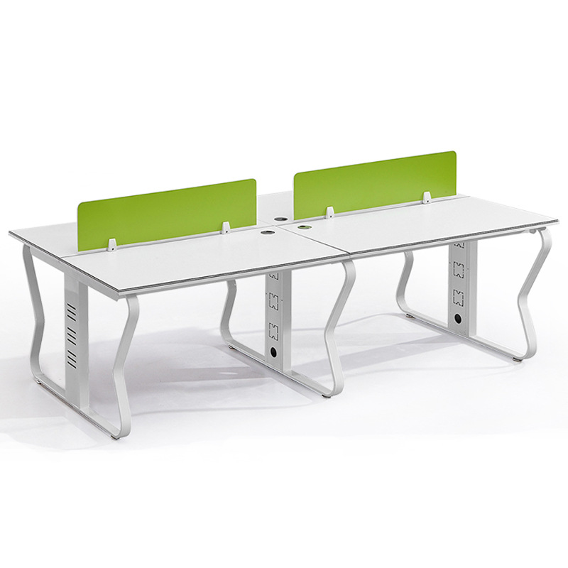 YIFANGCHENG Solid wood screen staff desk 4 people simple double computer desk and chair office furni