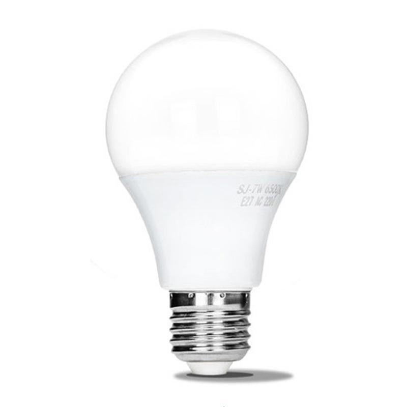 led plastic bag aluminum bulb lamp no strobe highlight energy saving screw e27 LED bulb