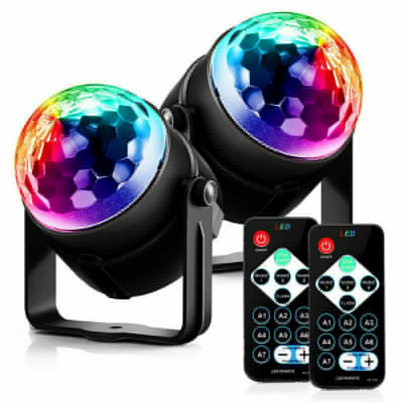 LED remote control mini magic ball Crystal magic ball light stage light KTV stage light