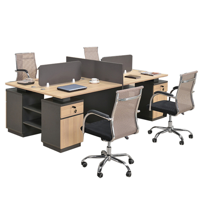 Guangshijie office furniture factory spot wholesale BS-47 simple fashion plate four-person combinati