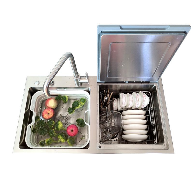 QINTY Sink dishwasher household manufacturers supply OEM ultrasonic sink dish washing machine