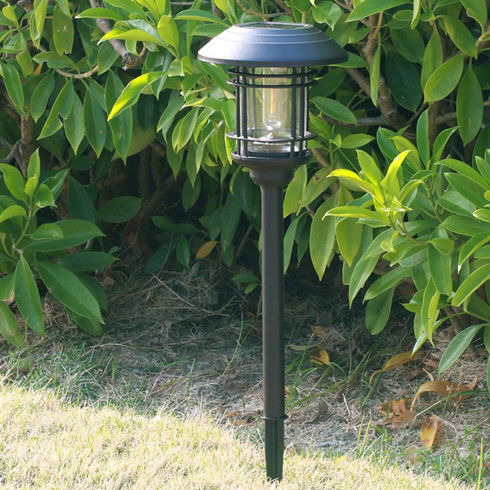 Solar lawn light outdoor waterproof stainless steel glass led landscape light lawn ground plug light