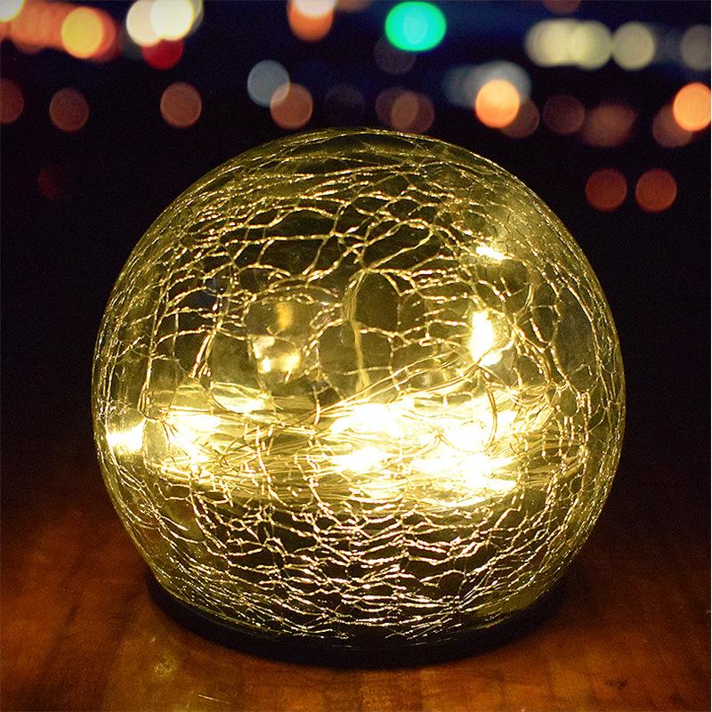 led solar lawn light garden garden decoration buried light Christmas outdoor glass ball cracked grou