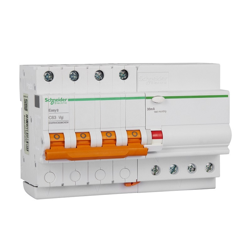 Schneider EA9 leakage protection circuit breaker air switch with leakage protector air open three-ph