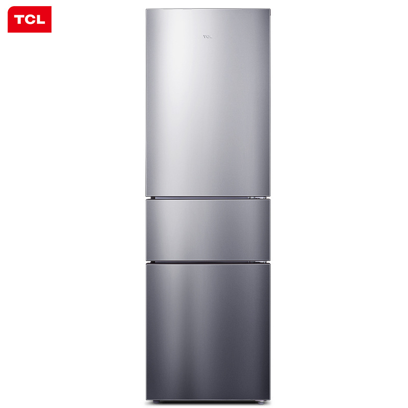 TCL 210 liters three-door refrigerator, air-cooled, frost-free computer temperature control, househo