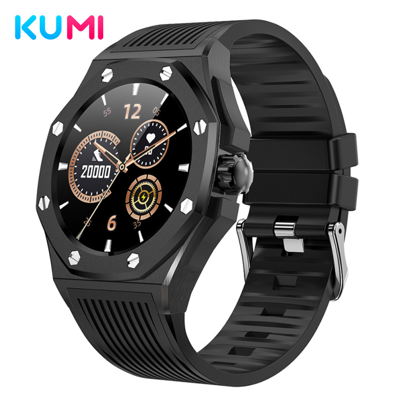 Kumi library gw20 luxury business smart watch outdoor sports watch blood oxygen and blood pressure h