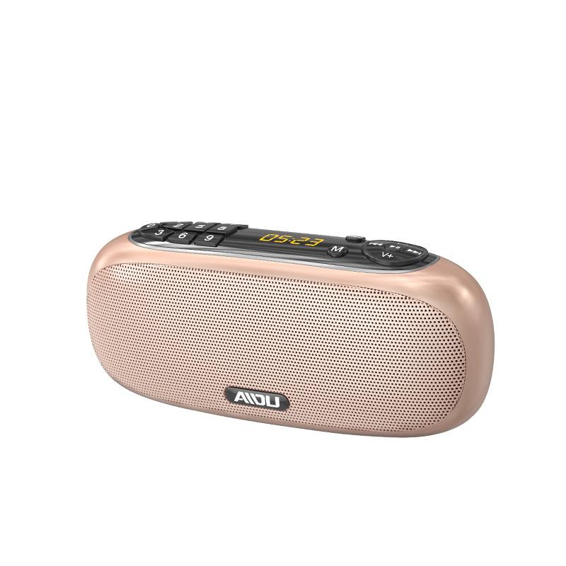 AIDU Love degree Q22 bluetooth speaker radio portable walkman music player charging card mini speake