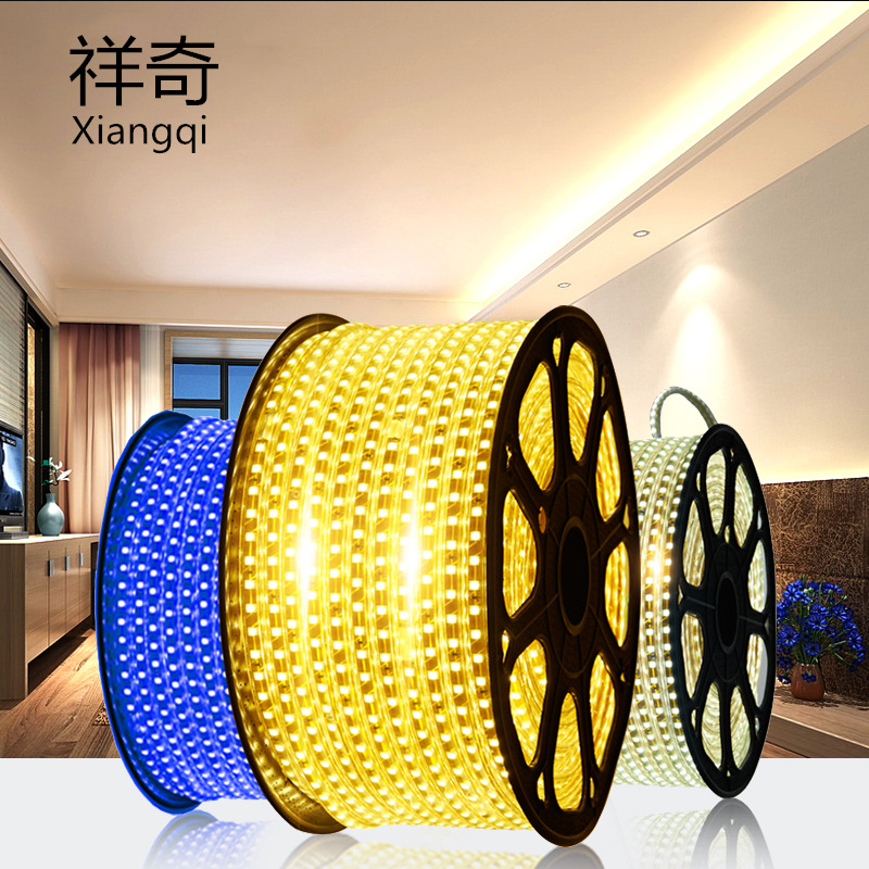 led light strip 5730 outdoor waterproof three-color dimming 2835 double row three-row engineering 22