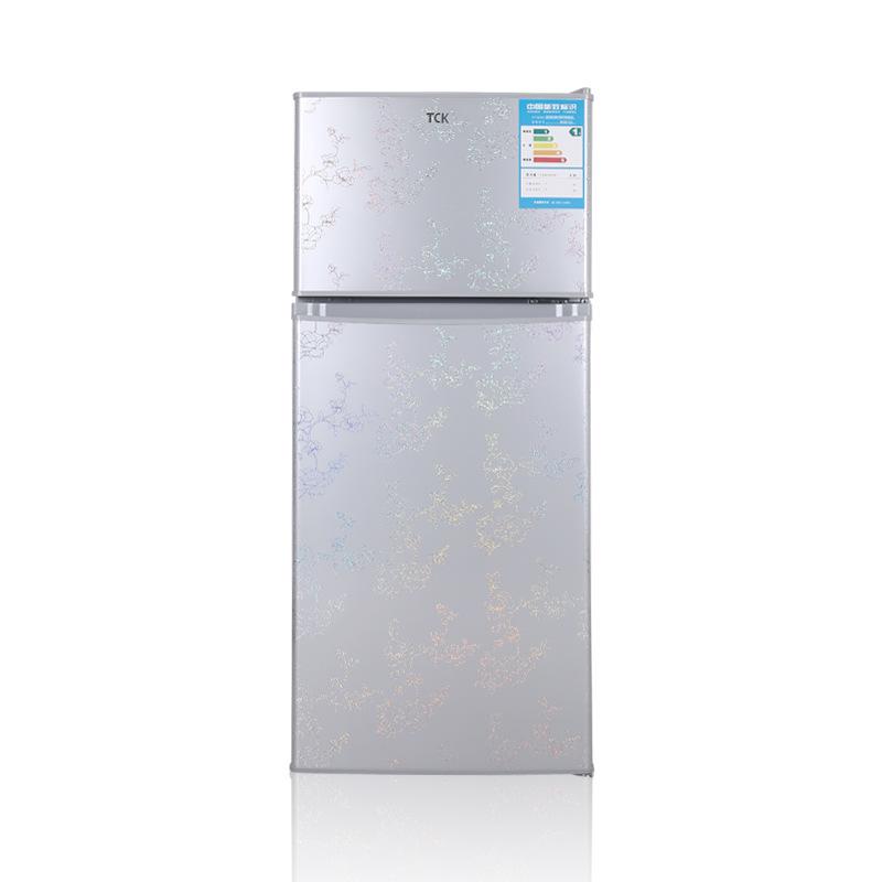 TCK brand bd112 112 liter double door small refrigeration energy saving silent refrigerator