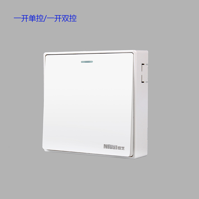 White large plate engineering of surface mounted wall switch in NYC 86 type surface mounted switch p