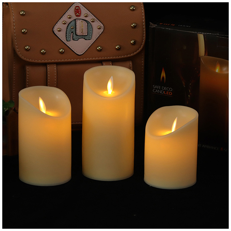 LED simulation swing remote control electronic candle Timed electronic candle light for Buddha candl