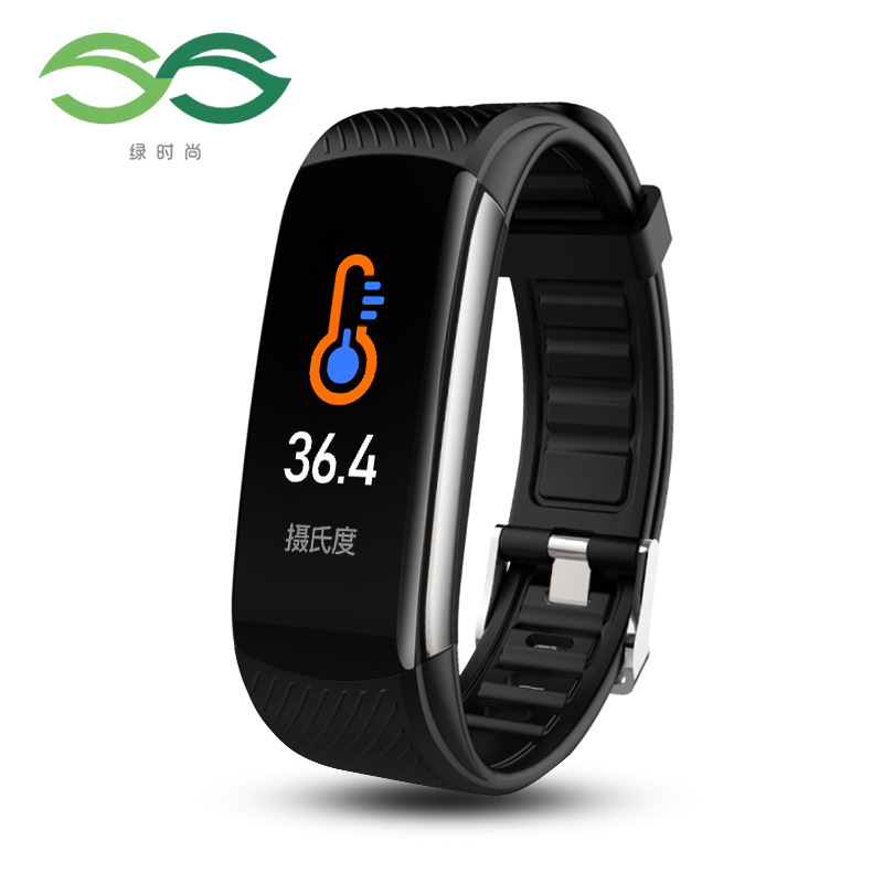 C6t smart Bracelet t1s body temperature real time monitoring heart rate blood oxygen blood pressure