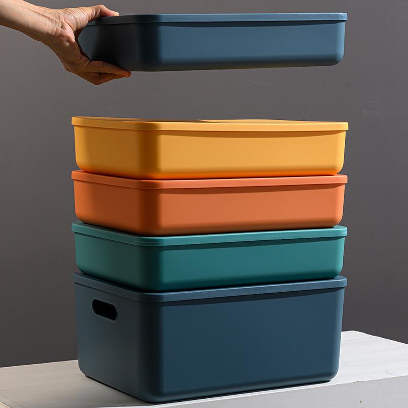 HEASTREW Morandi color storage box snack clothes sundries sorting box household kitchen seasoning pl