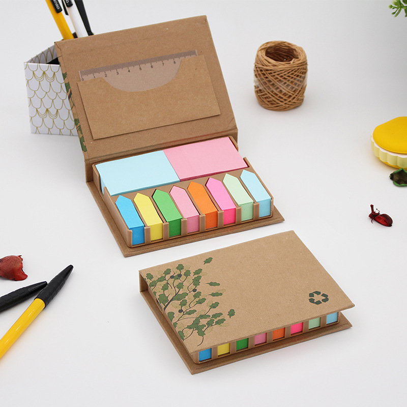 YIYUAN Note paste office supplies can be customized n times paste environmental protection kraft pap