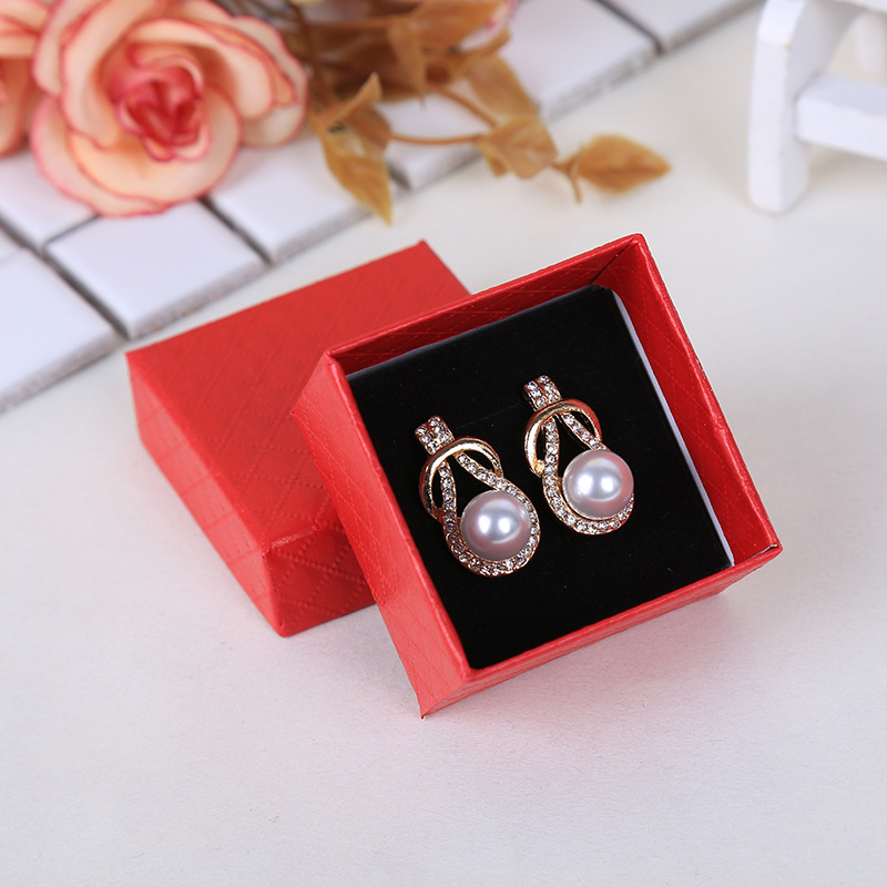 SHAOCAI Korean style necklace and earrings packaging gift box custom-made earrings jewelry paper box