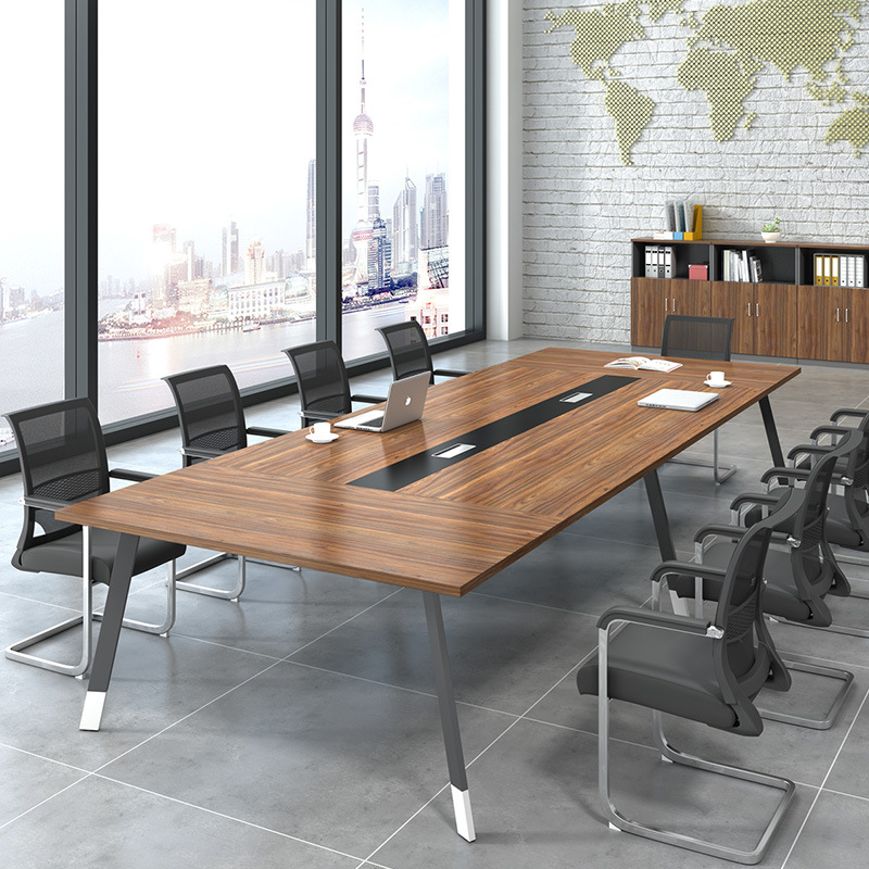 LONGFENG Office furniture conference table long table simple modern negotiation table and chair comb
