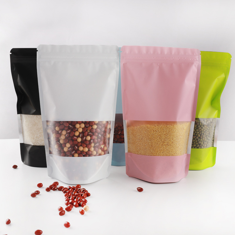 Color self supporting bone bag frosted aluminum foil bag five grains and miscellaneous grains pet fo