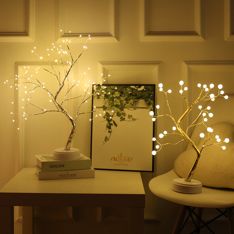 Touch screen led decorative light, rose tree light, bedroom study decoration, night light