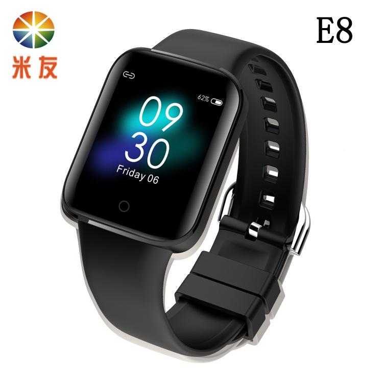 MISSYOU E8 smart bracelet to measure body temperature, sleep, heart rate, blood pressure, blood oxyg
