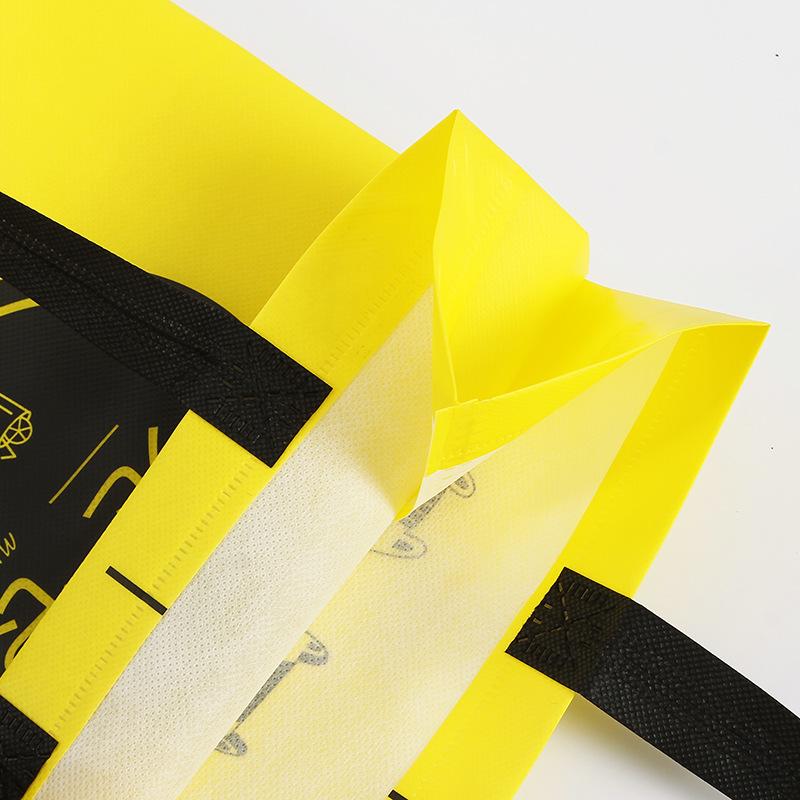 Film creative dining bag gift packaging custom fast food bag non-woven takeaway packaging bag