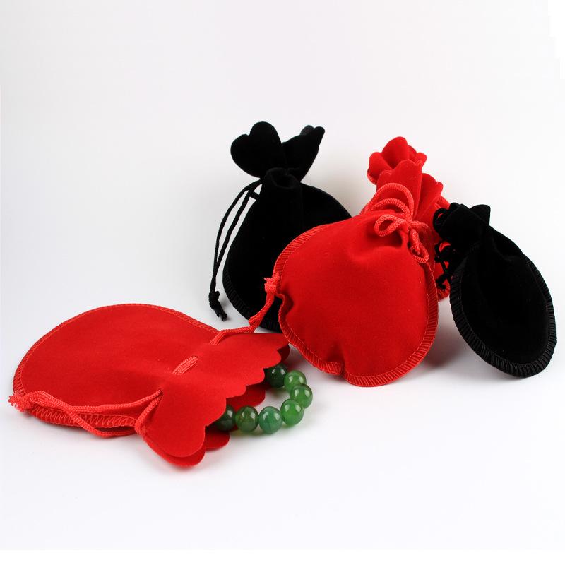 Creative gourd jewelry bag jewelry bag velvet bag ring earring bracelet candy packing bag gift bag