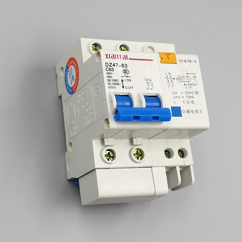 2P63 leakage circuit breaker supply leakage switch C63 leakage protector two-phase power