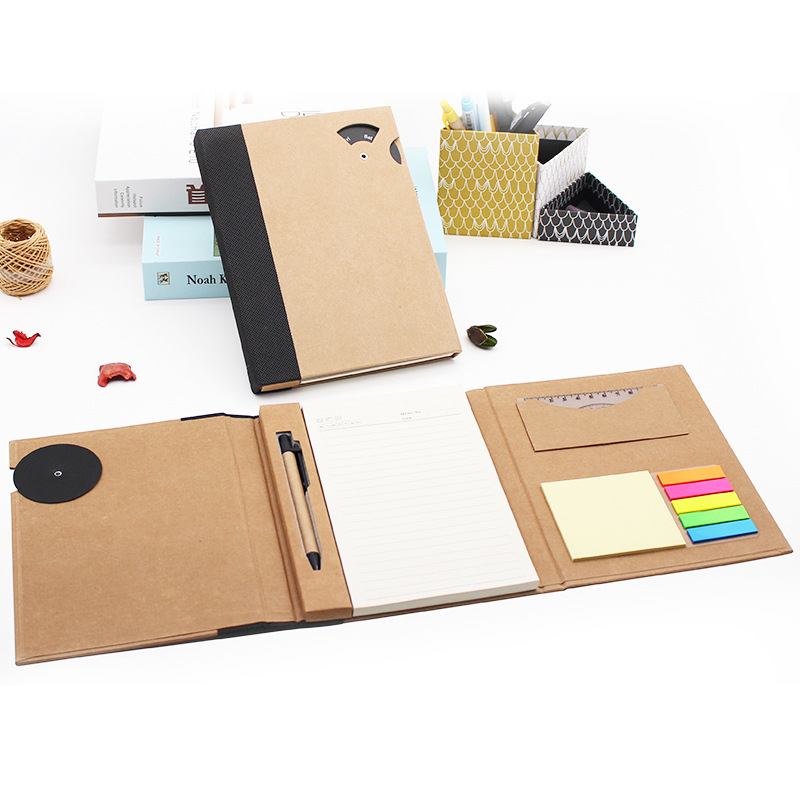 YIYUAN Note book, kraft paper, three fold business office Notepad