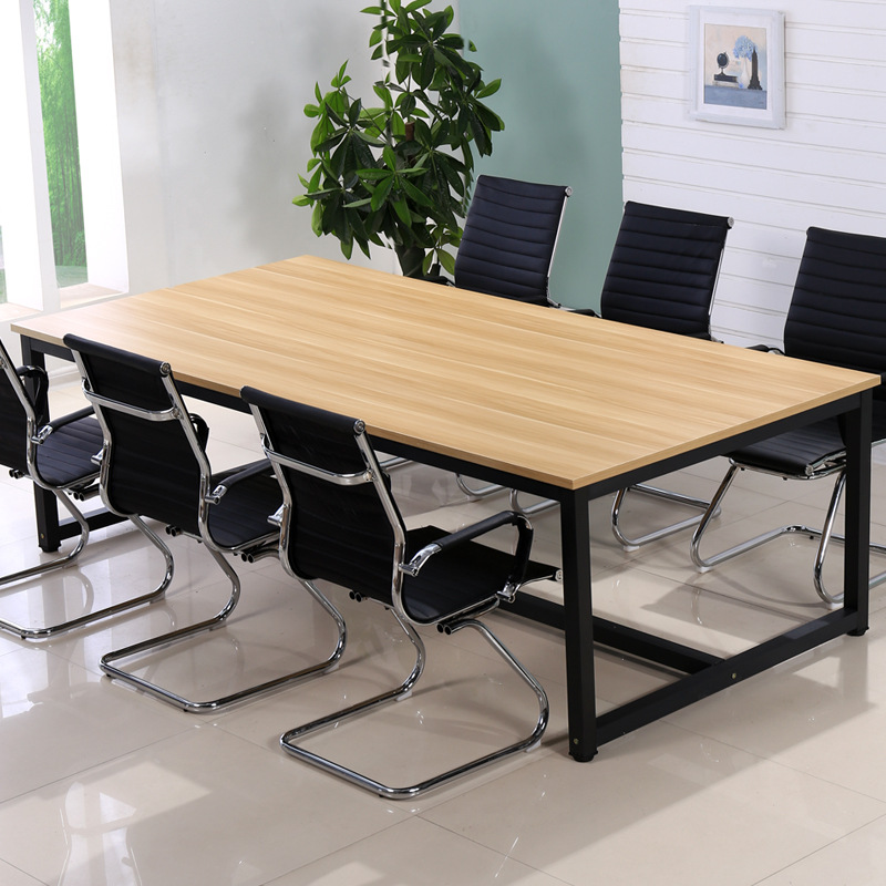 Simple and modern staff conference table custom office furniture computer desk and chair long traini