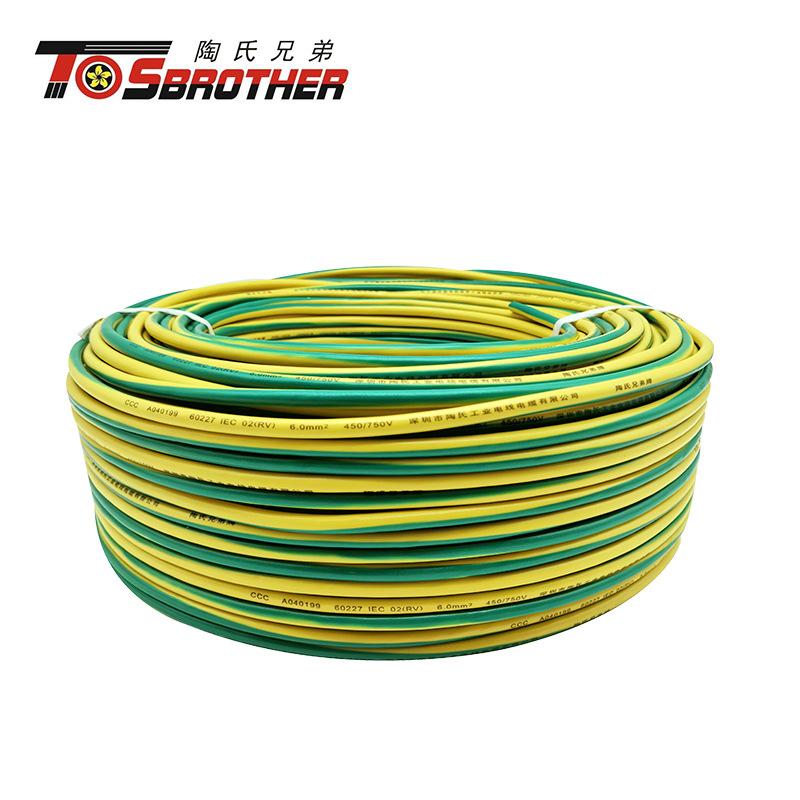 Rv6 square meter national standard pure copper single core full 100 meter multi strand flexible wire
