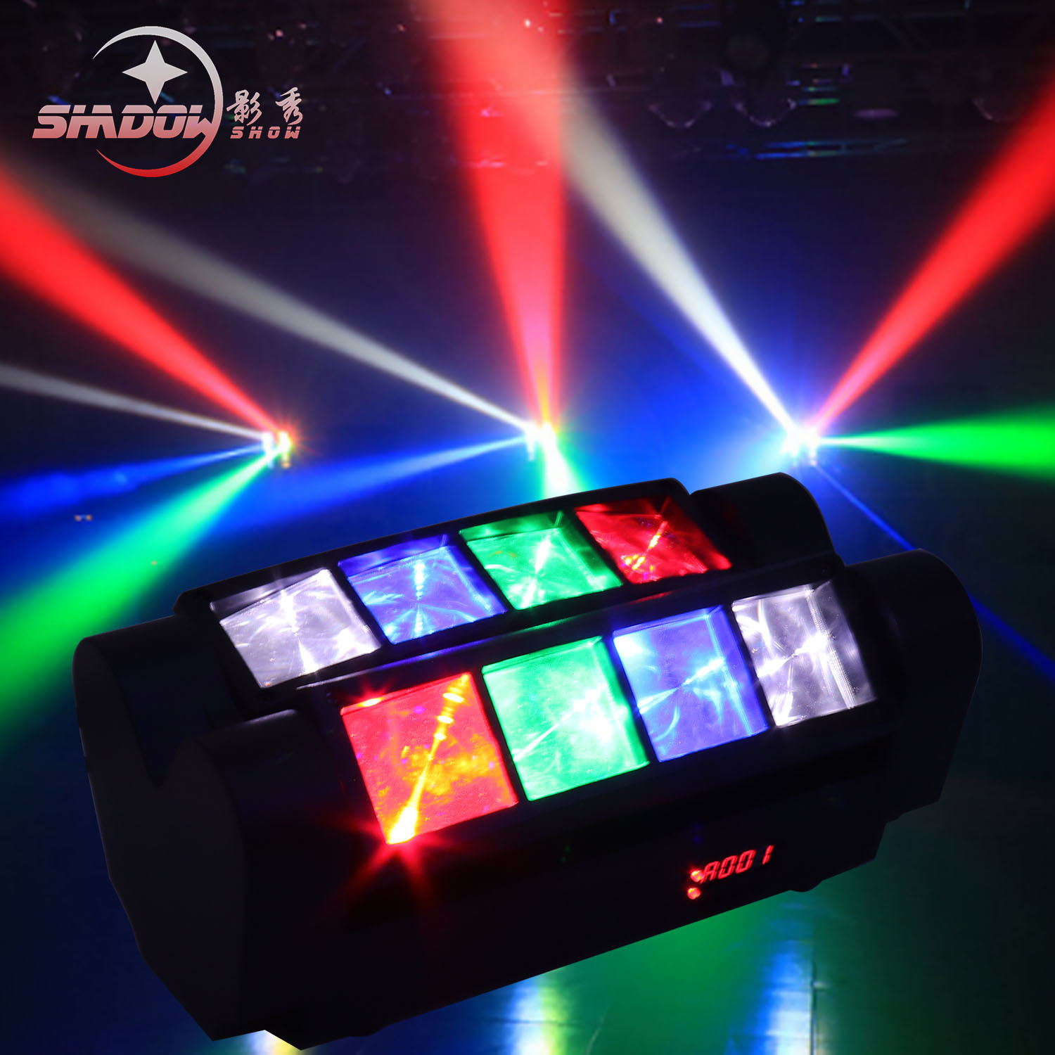 YINGXIU led eight-eye spider light voice control bar stage ktv private room mini spider light eight