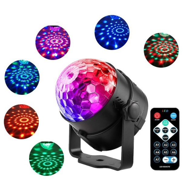 ONLYFEEL LED Par Light Small Magic Ball Amazon Crystal Magic Fans Your Stage Light Remote Control Co
