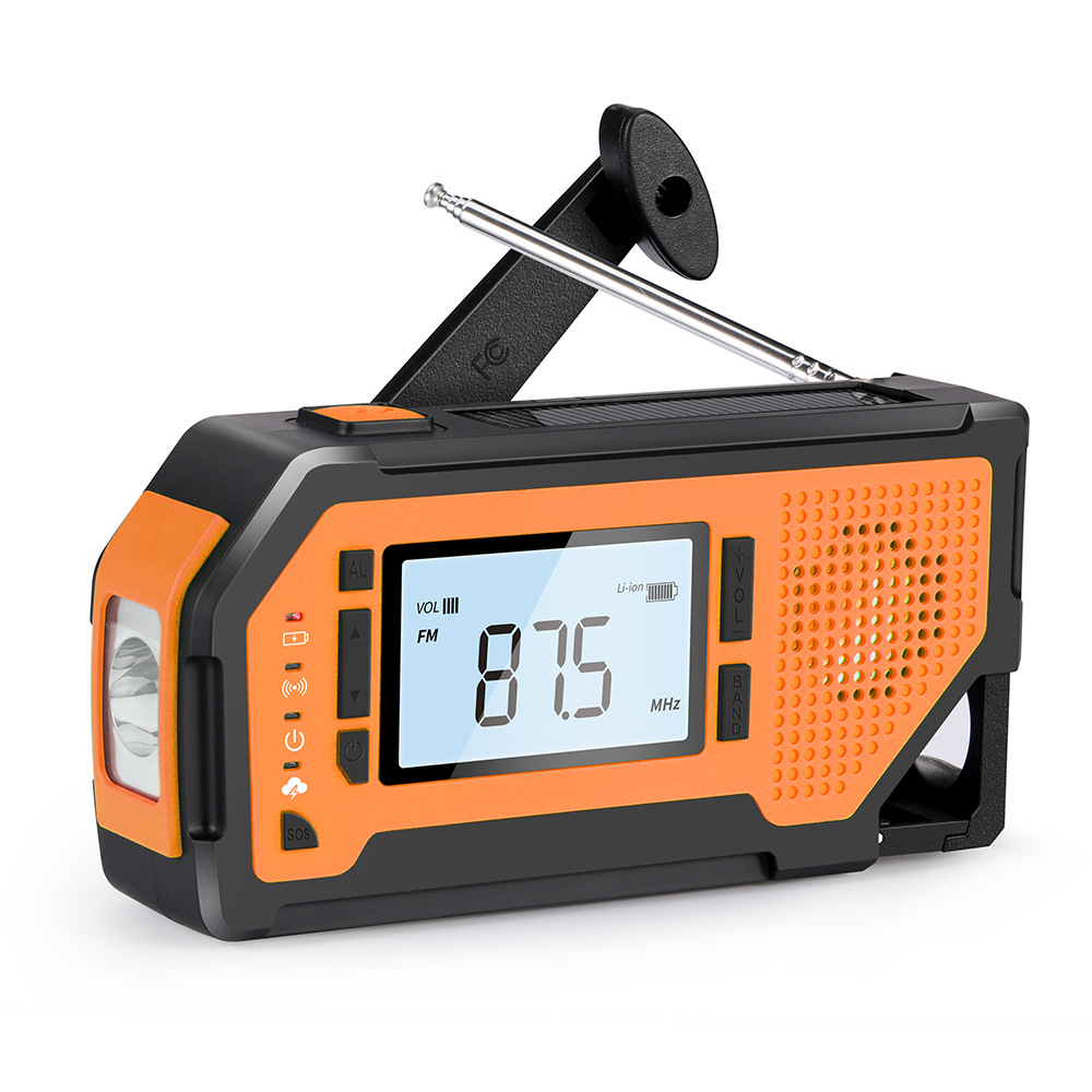 Disaster prevention emergency radio Multifunctional radio Mobile phone emergency charging Hand crank
