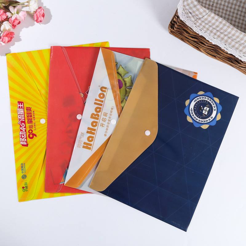 PAIDU PP plastic A4 folder customized student office information file bag customized business statio