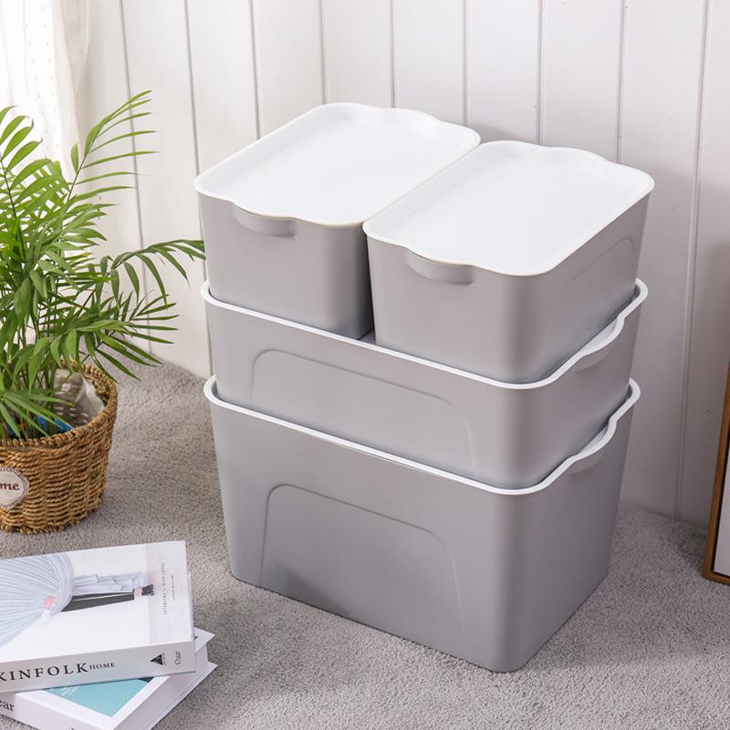 FENGGUAN Large Storage Box Plastic Wardrobe Clothes Storage Box Desktop Toy Organizing Box Household