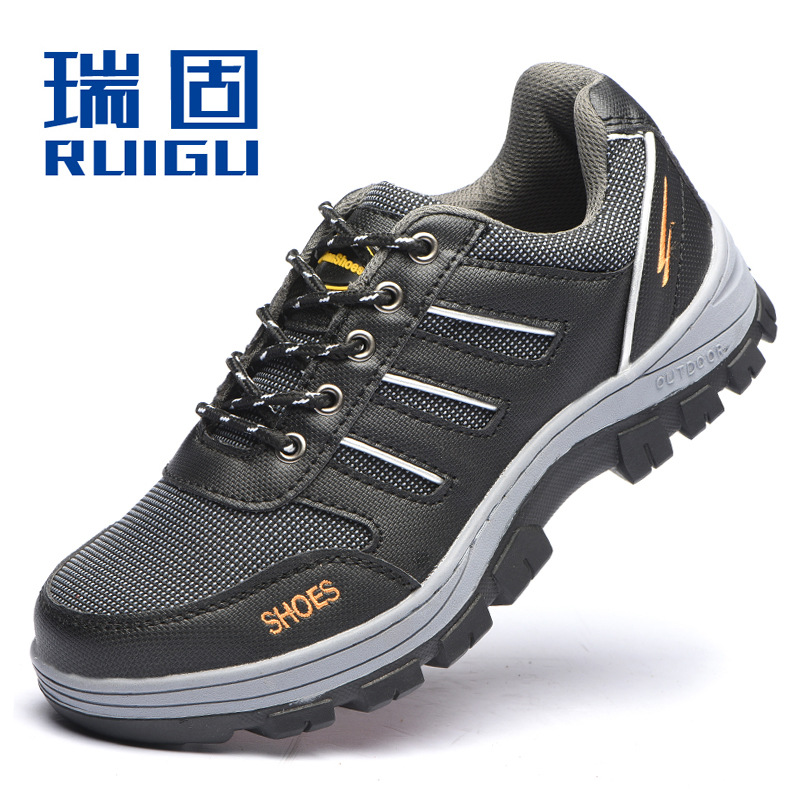 RUIGU Safety shoes Safety shoes Anti-smashing, anti-piercing, non-slip, breathable safety shoes