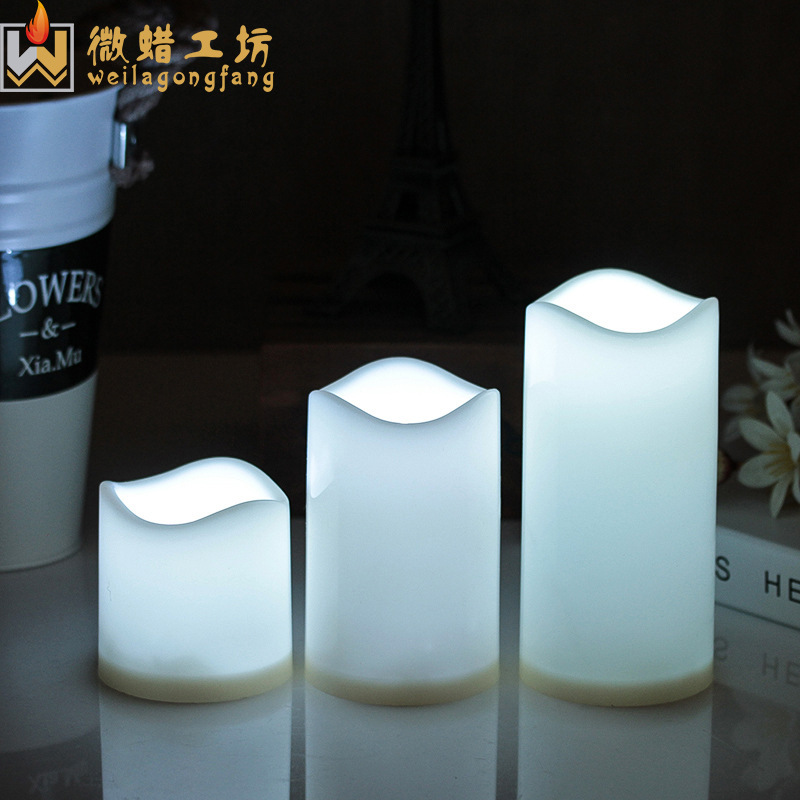 LED remote control electronic candle 18 keys creative wedding road leading color changing candle lig