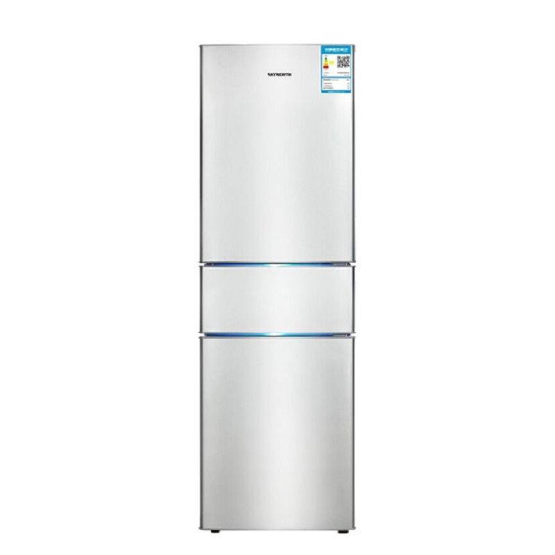 Skyworth BCD-195T 195 liters three-door refrigerator household refrigeration, freezing, ice making,