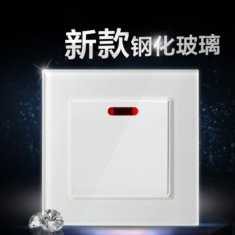 NOVSKI Switch and socket panel 20A with light Qu Hong Kong Macao 86 light air conditioner switch Bri
