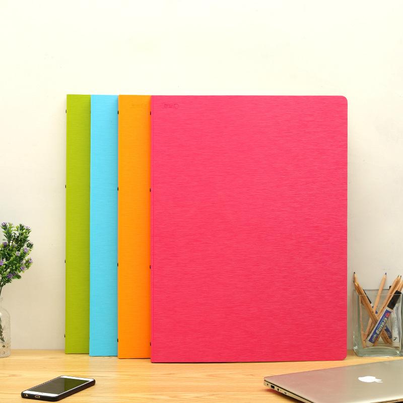 QIJIE 8 open children's sketch album portfolio 4K folder album bag A2 information album A3 art albu