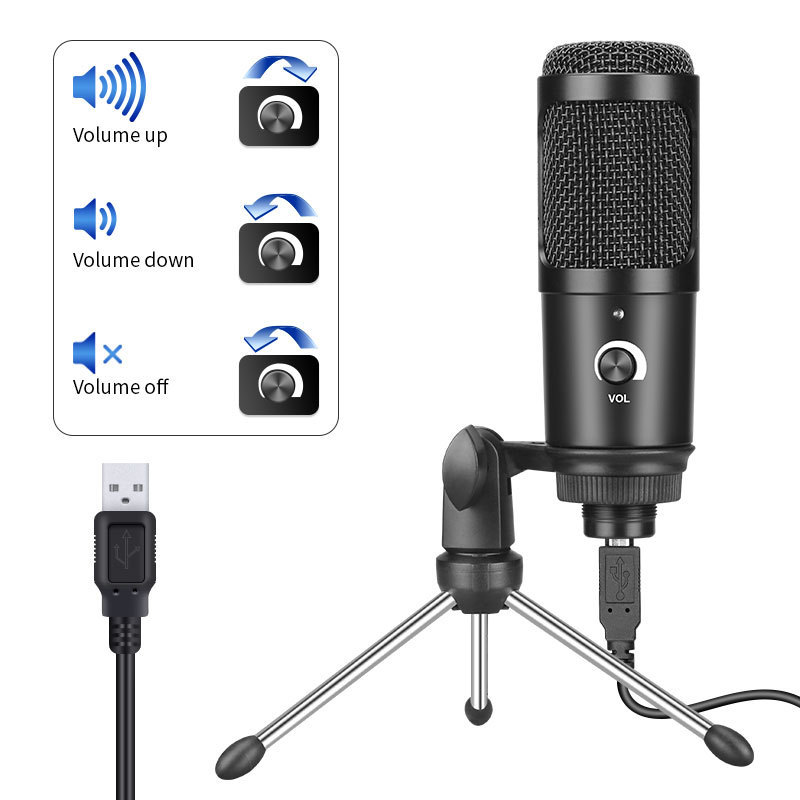 USB condenser microphone vibrato anchor microphone game voice live broadcast platform equipment