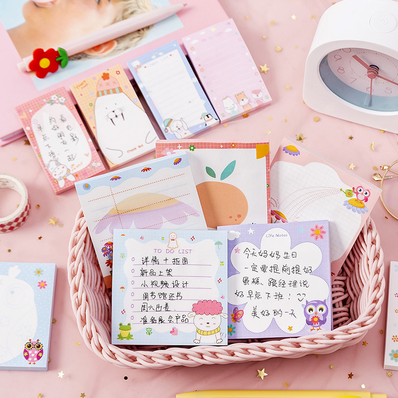 XIMI New Korean version of original net red cartoon notes girl heart hand account message note small