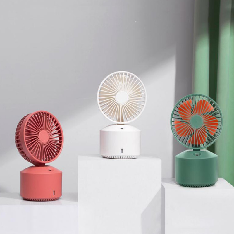Spray fan USB charging mini mute dormitory office moisturizing desktop humidifying fan custom gift