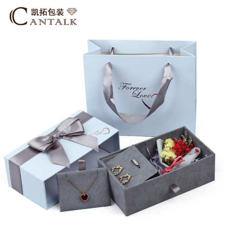 KAITUO Tanabata Valentine's Day Rose Box Special Spot Wholesale Couple Jewelry Gift Box Ring Neckla