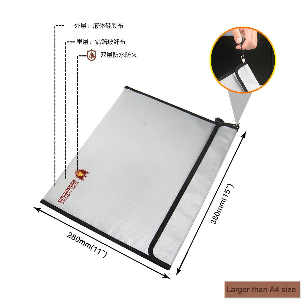 ENGPOW A4 envelope bag fireproof waterproof document bag folder office information precious metal bi