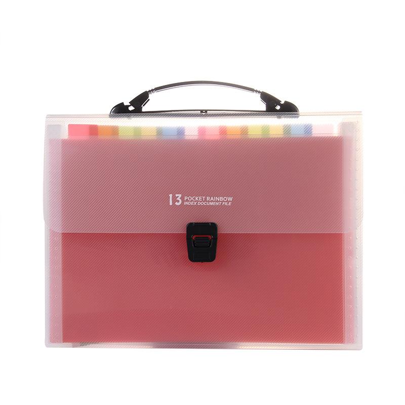 A4 organ pack 13 grid multi-layer file bag organ folder customized test paper storage information bo