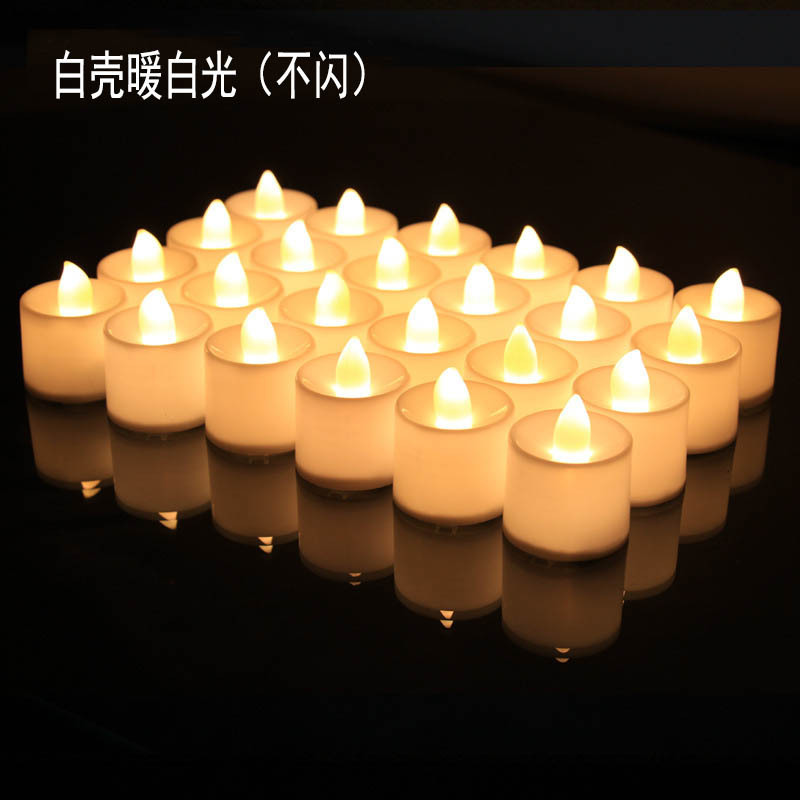 New led candle light electronic candle christmas supplies candle light wedding decoration light birt