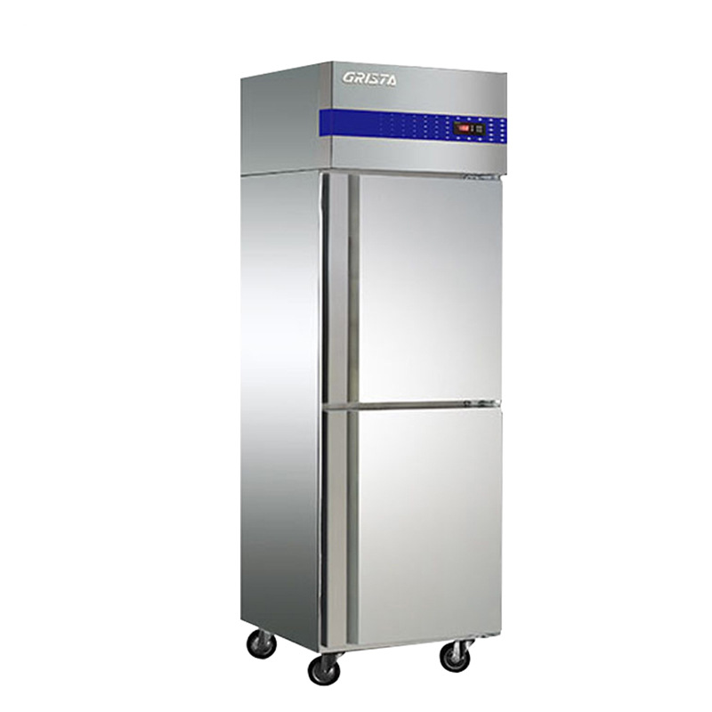 Star commercial two-door refrigerator D500E2-GX vertical upper and lower door freezer hotel kitchen