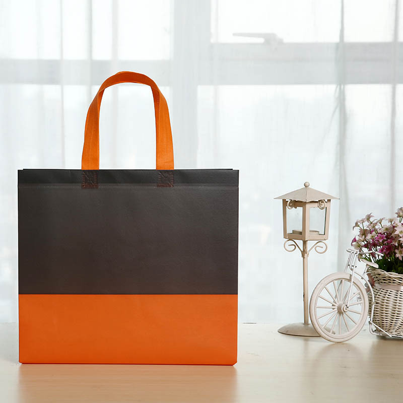 HONGJIN Color matching shopping non-woven tote bag color atmospheric gift bag